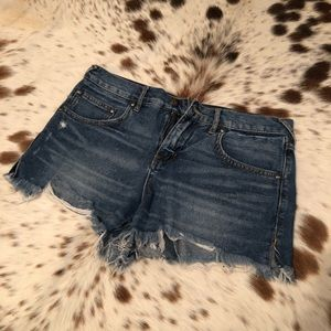 Free People Denim Cutoff Shorts - Sz 27